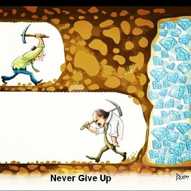 Motivation Picture Quote Never Give Up