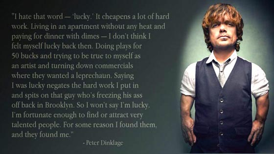 luck picture quote peter dinklage
